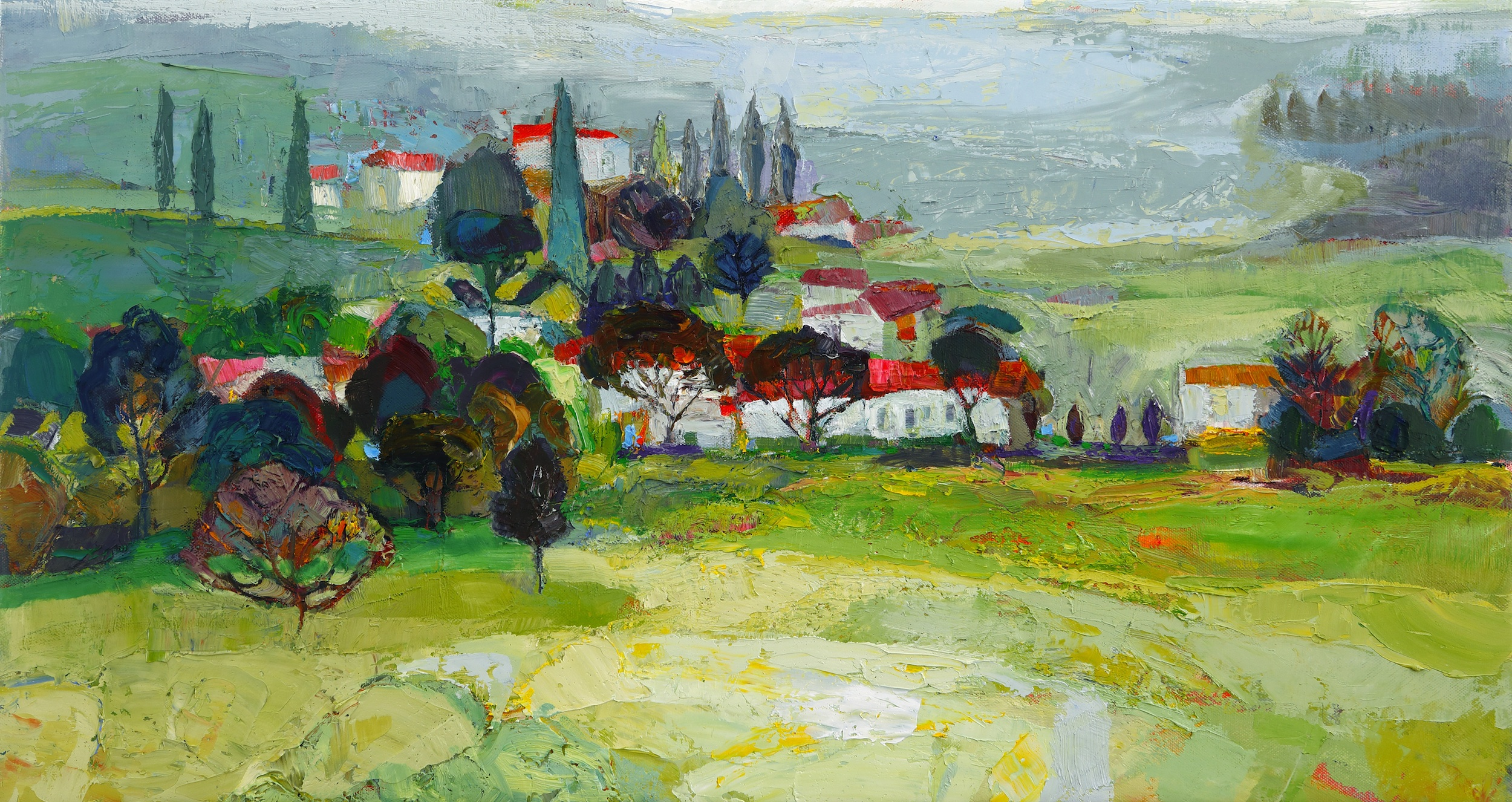 Title: In the Hills Size: 16 x 30 inches Medium: Oil on Canvas Price: SOLD