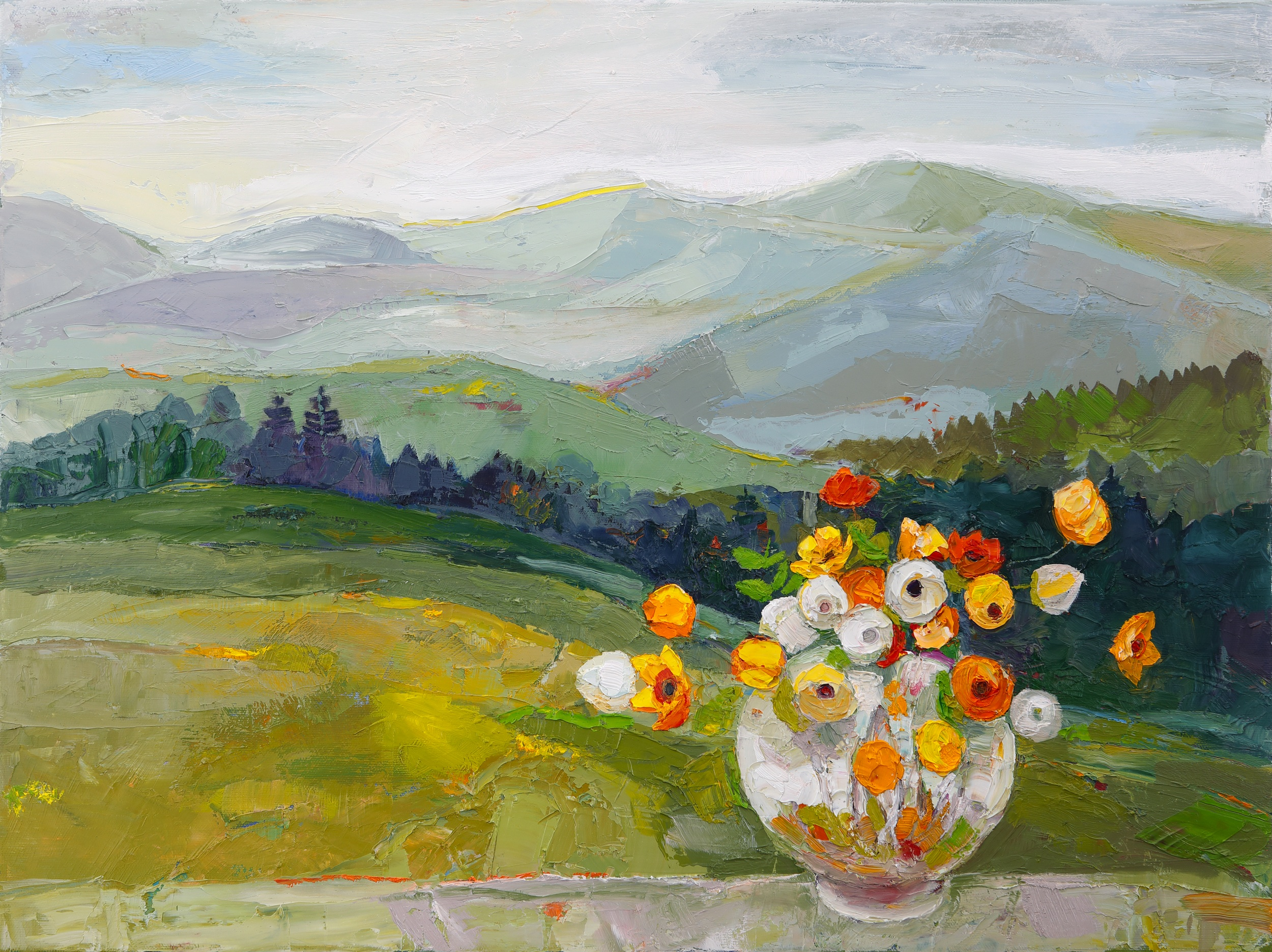 Title: Summer Alps Size: 18 x 24 inches Medium: Oil on Canvas Price: £3250
