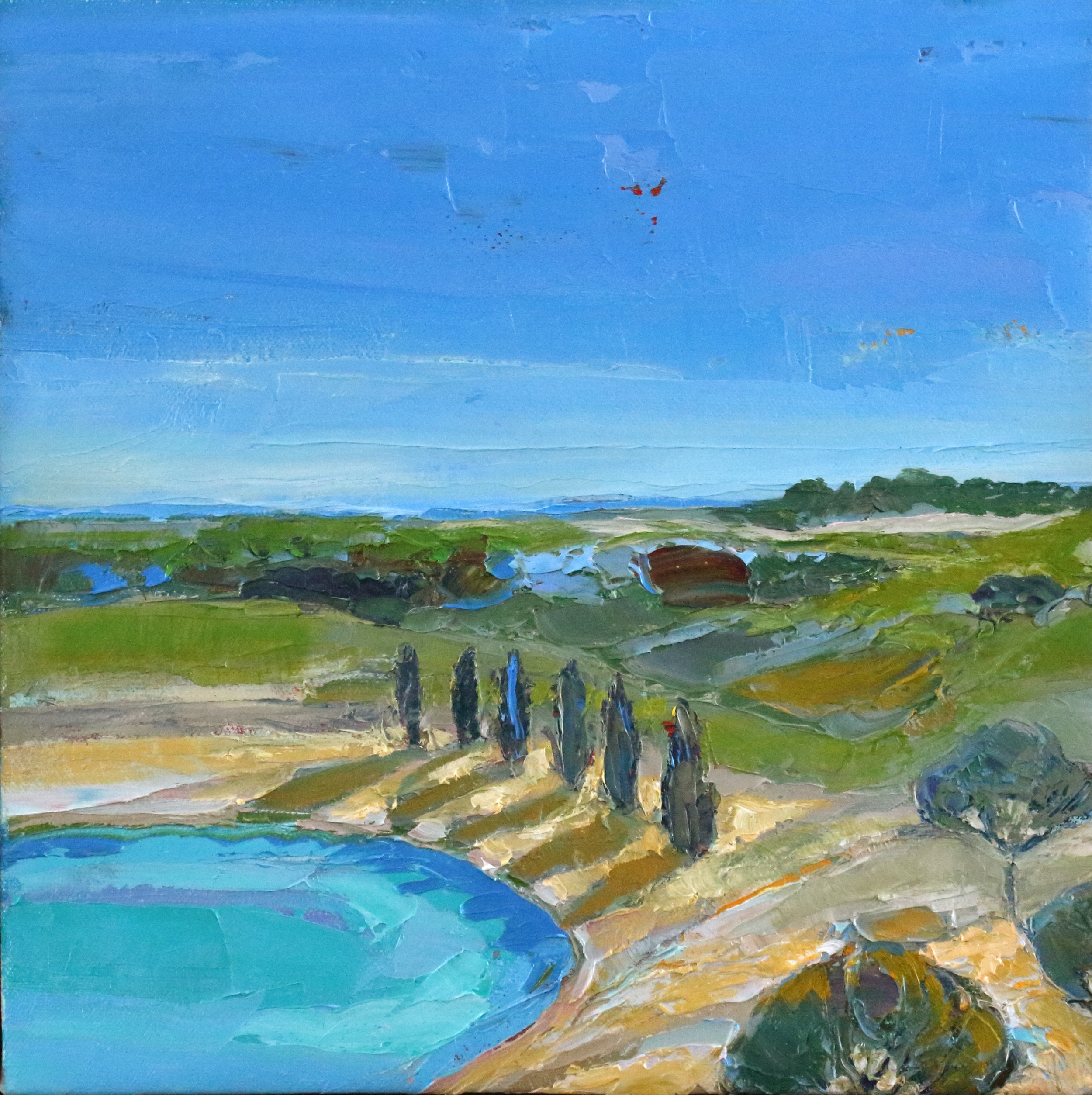 Title: Edge of the Bay Size: 12 x 12 inches Medium: Oil on Canvas Price: £1700