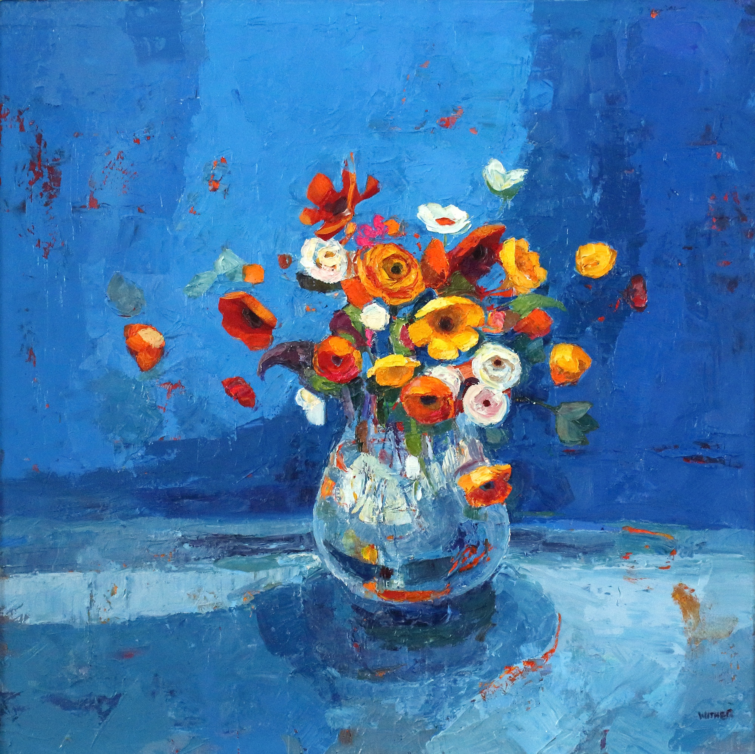 Title: In the Deep Blue Size: 24 x 24 inches Medium: Oil on Canvas Price: £3750