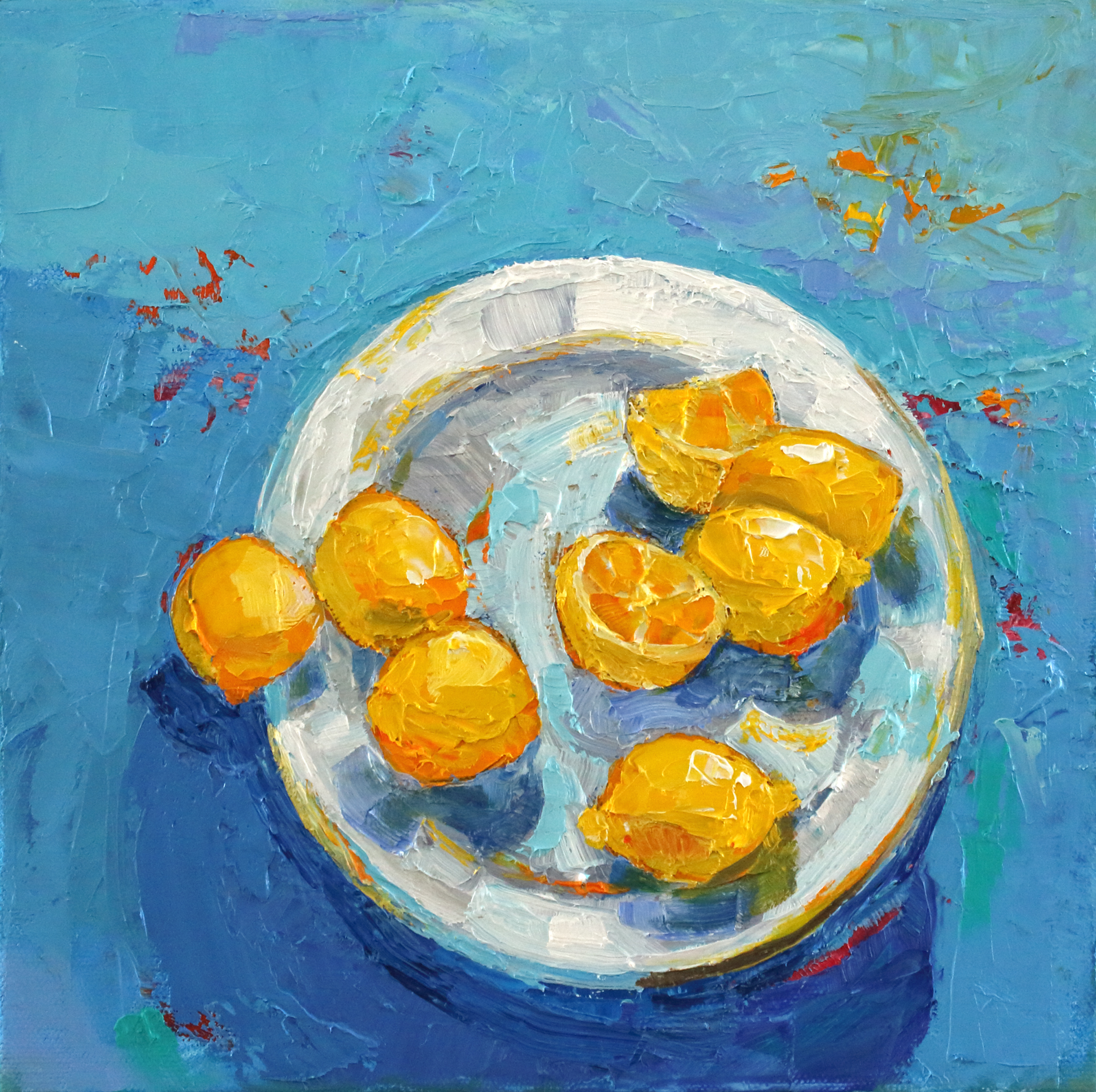Title: Seven Lemons Size: 10 x 10 inches Medium: Oil on Canvas Price: £1350