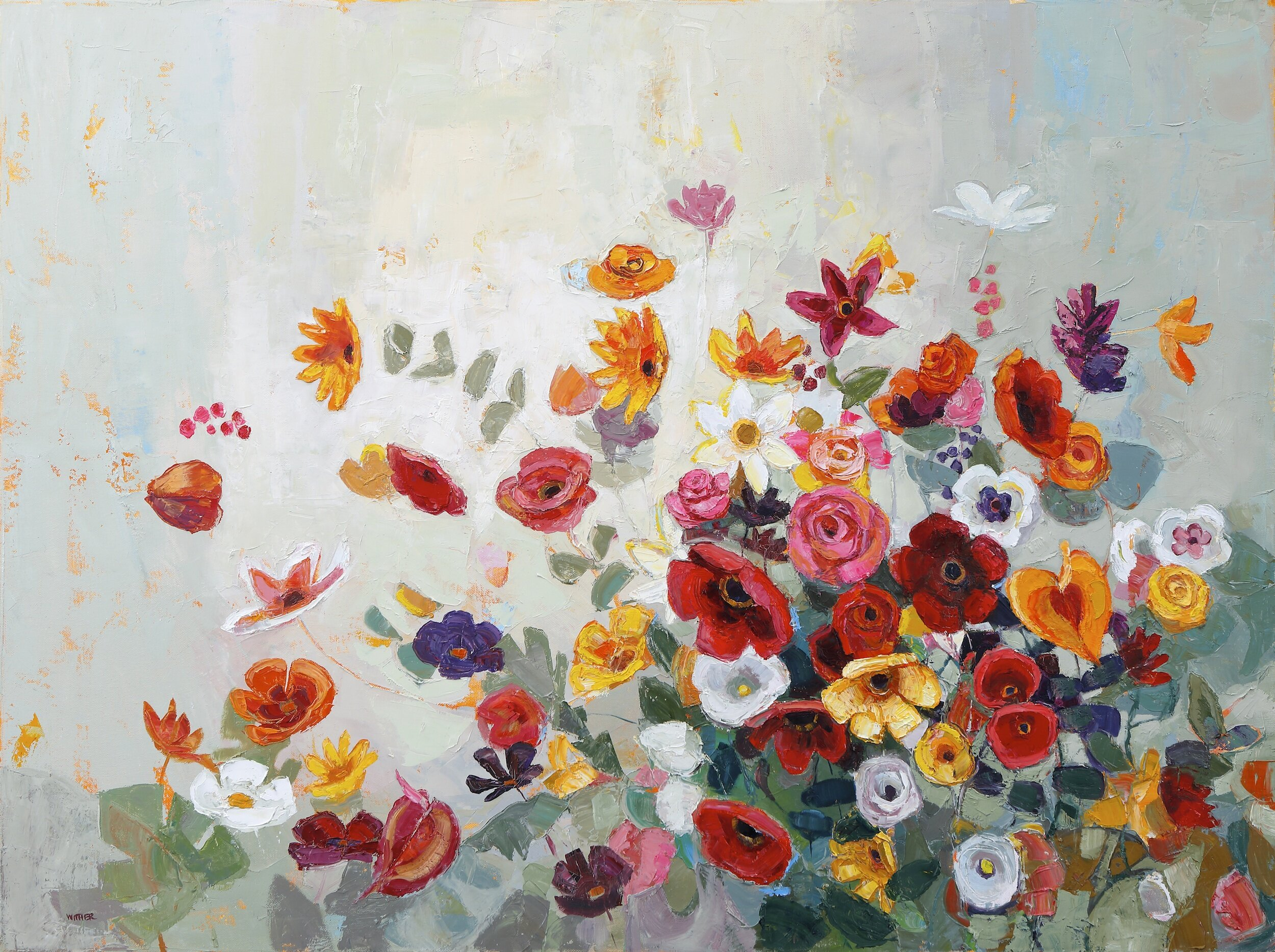 Title: Burst of Exuberance  Size:  30x40in  Medium: Oil on Canvas  Price: £5450