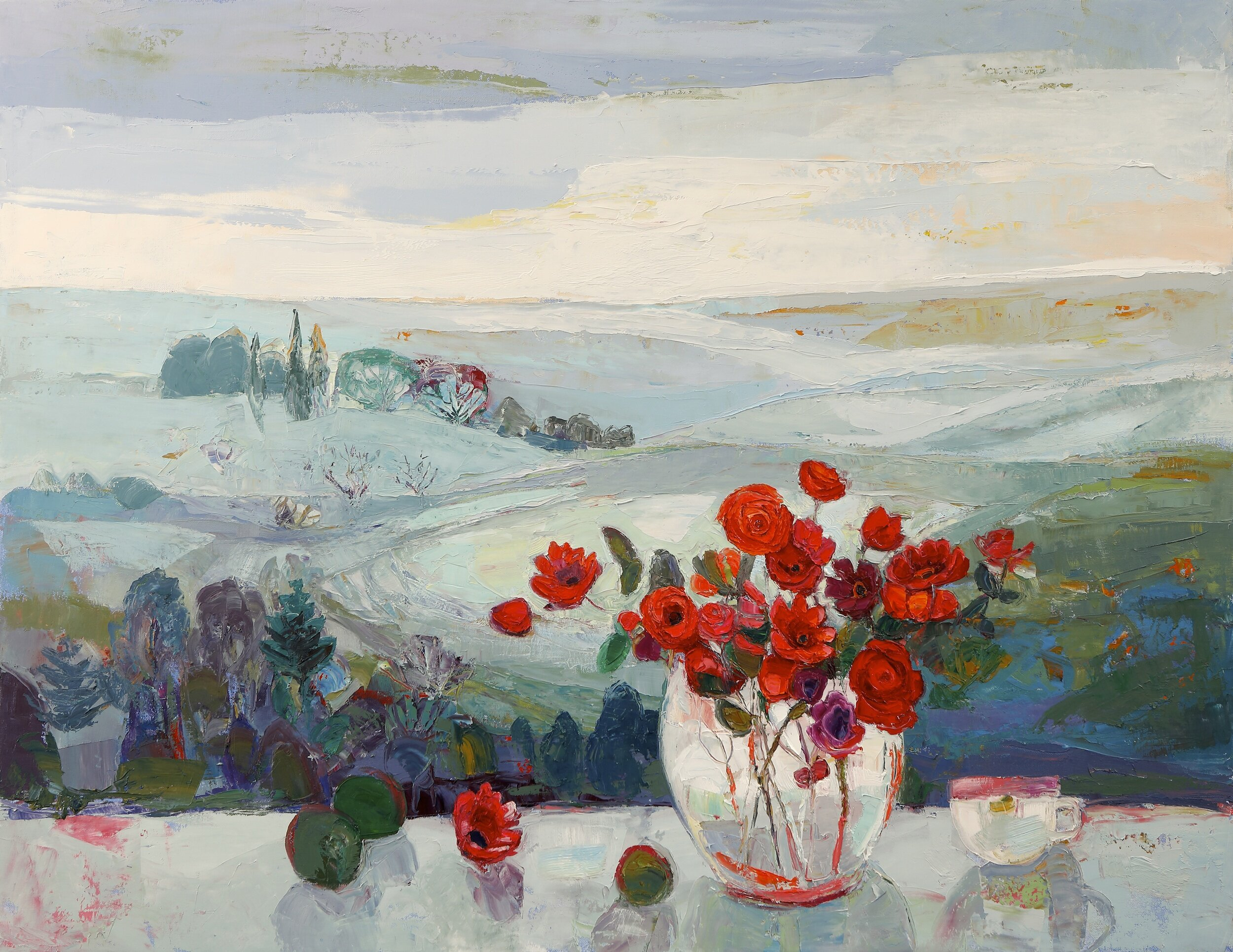 Title: Light on the Horizon  Size: 28x36in  Medium: Oil on Canvas  Price: £5250