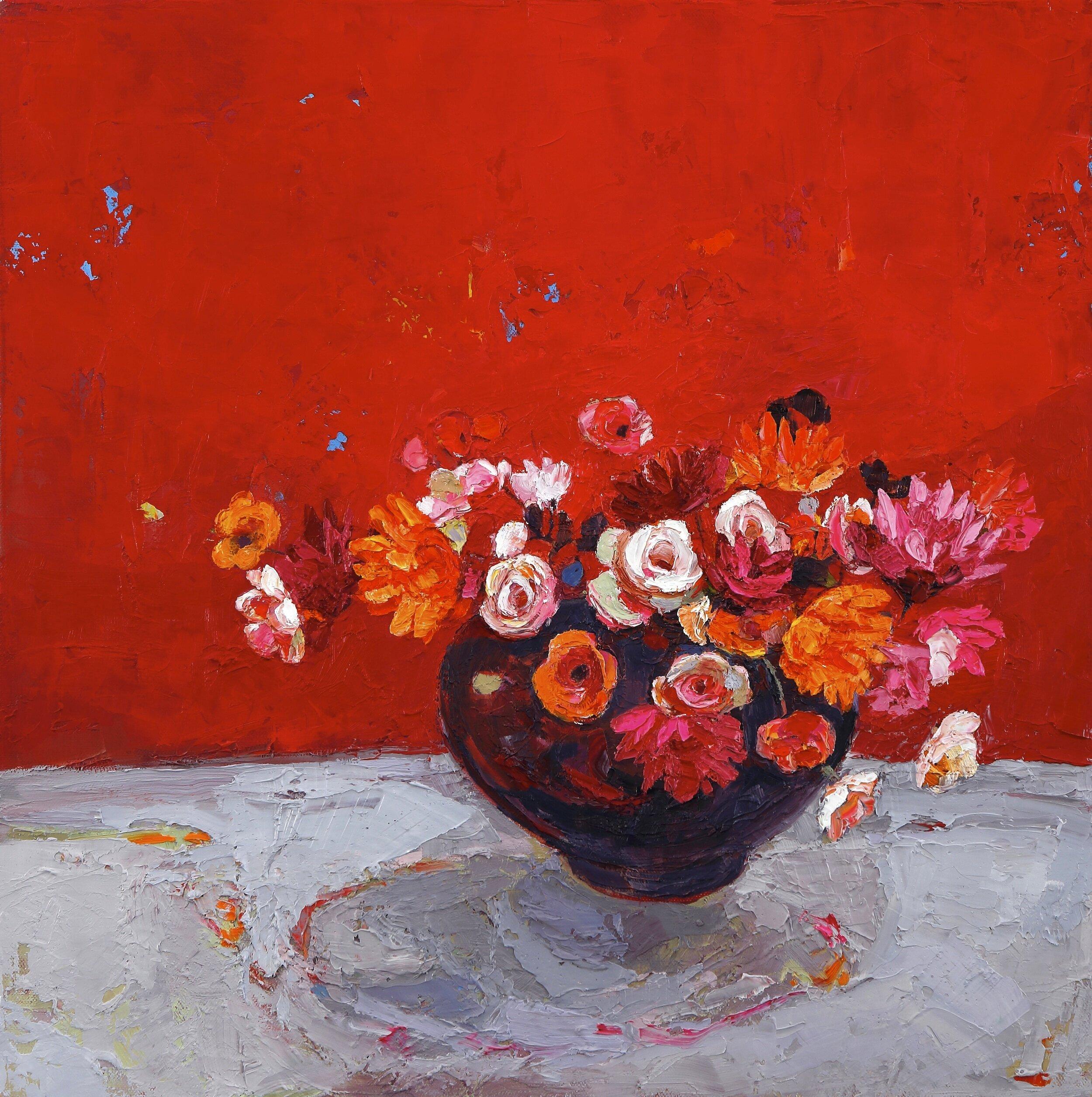 Title: Scarlet Ladies  Size: 20x20in  Medium: Oil on Canvas  Price: £3250