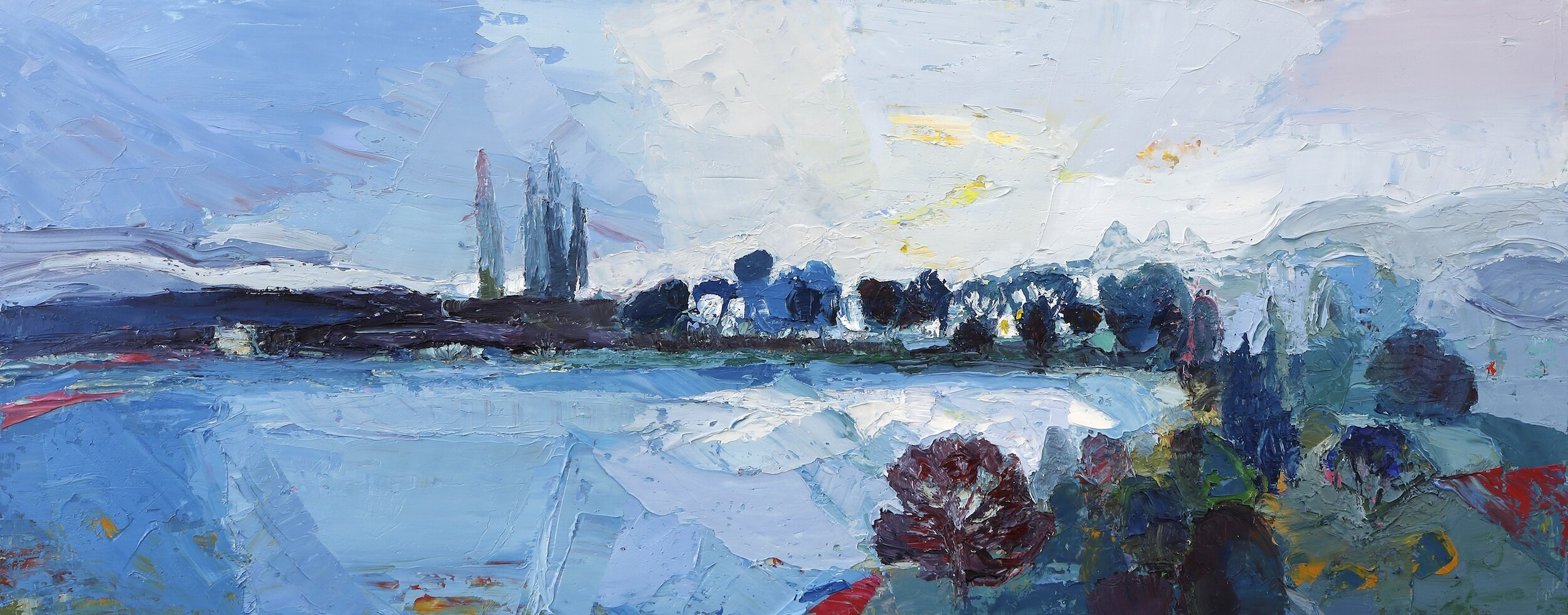 Title: Whatever the Weather  Size: 12x30in  Medium: Oil on Canvas  Price: £3150