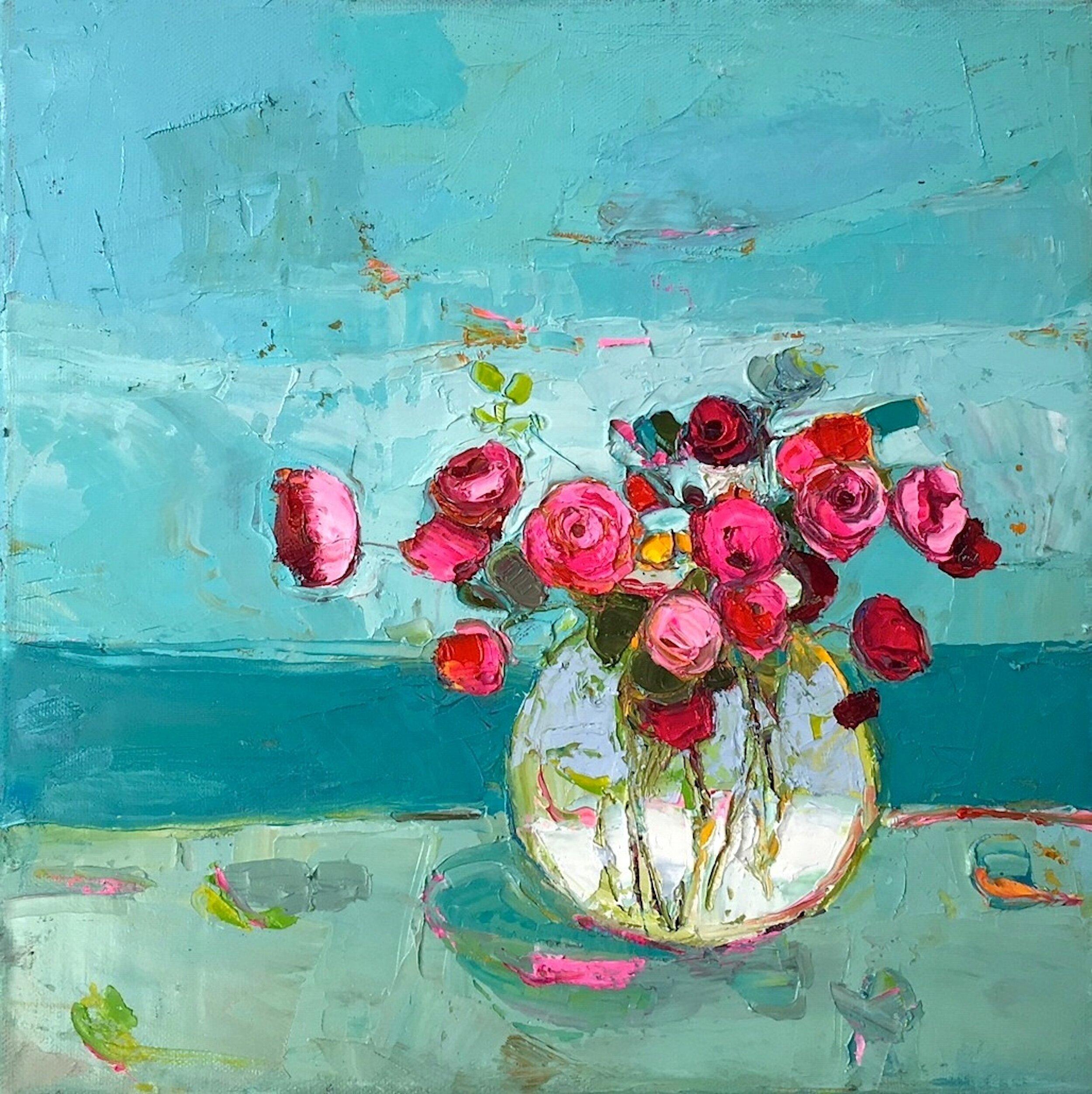 Title: Still Blue Sea  Size: 12x12  Medium: Oil on Canvas  Price: £1700