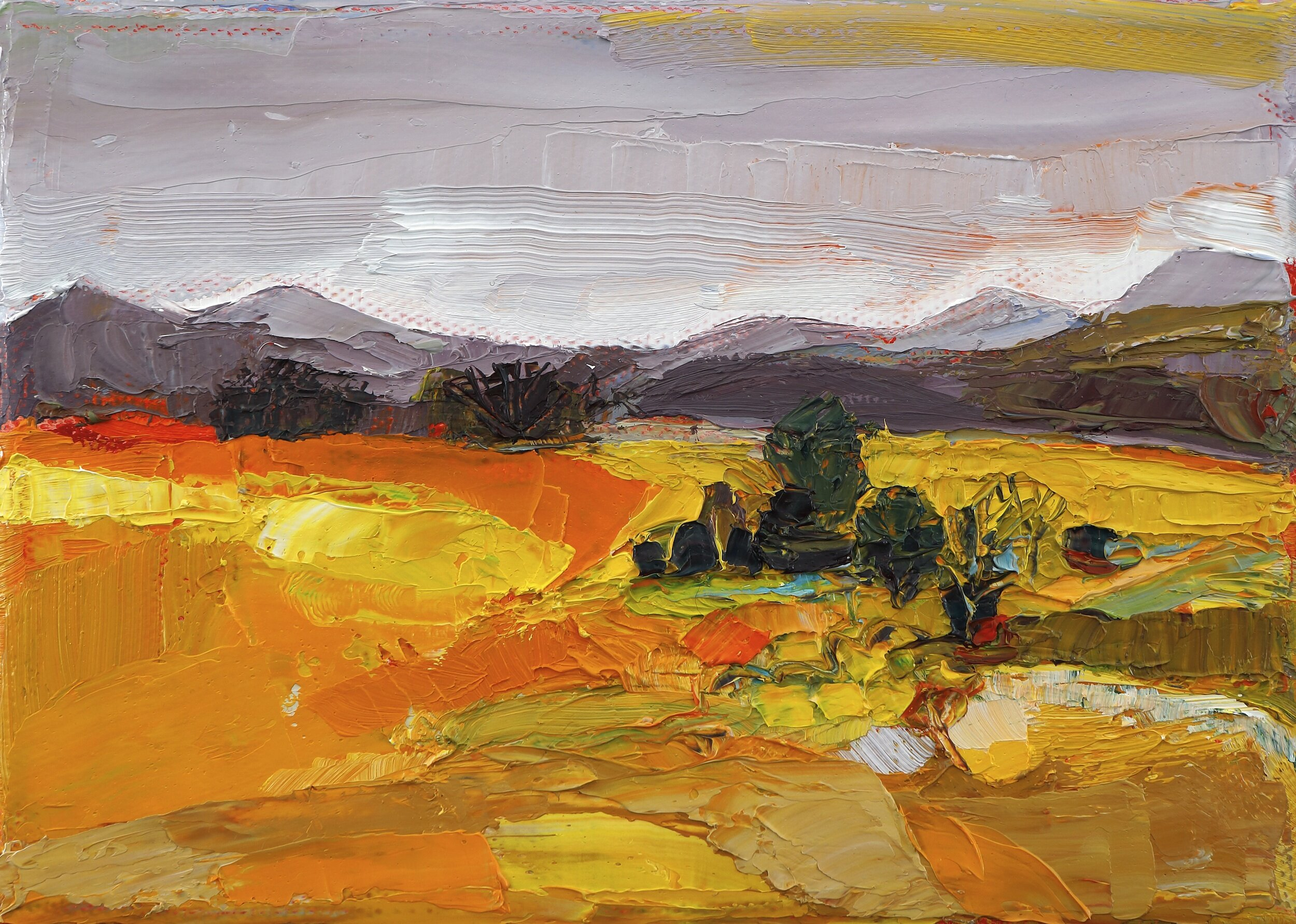 Title: On the Plain  Size: 5x7in  Medium: Oil on Canvas  Price: £650