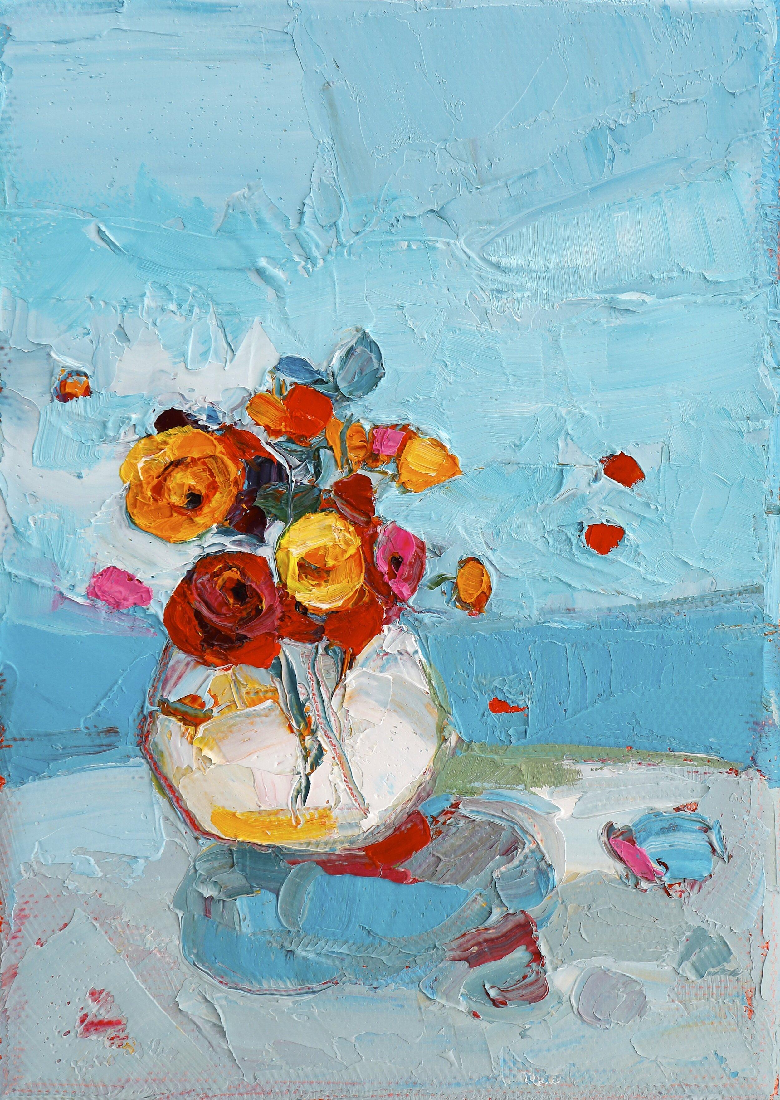 Title: Mini Celebration  Size: 7x5in  Medium: Oil on Canvas  Price: £650