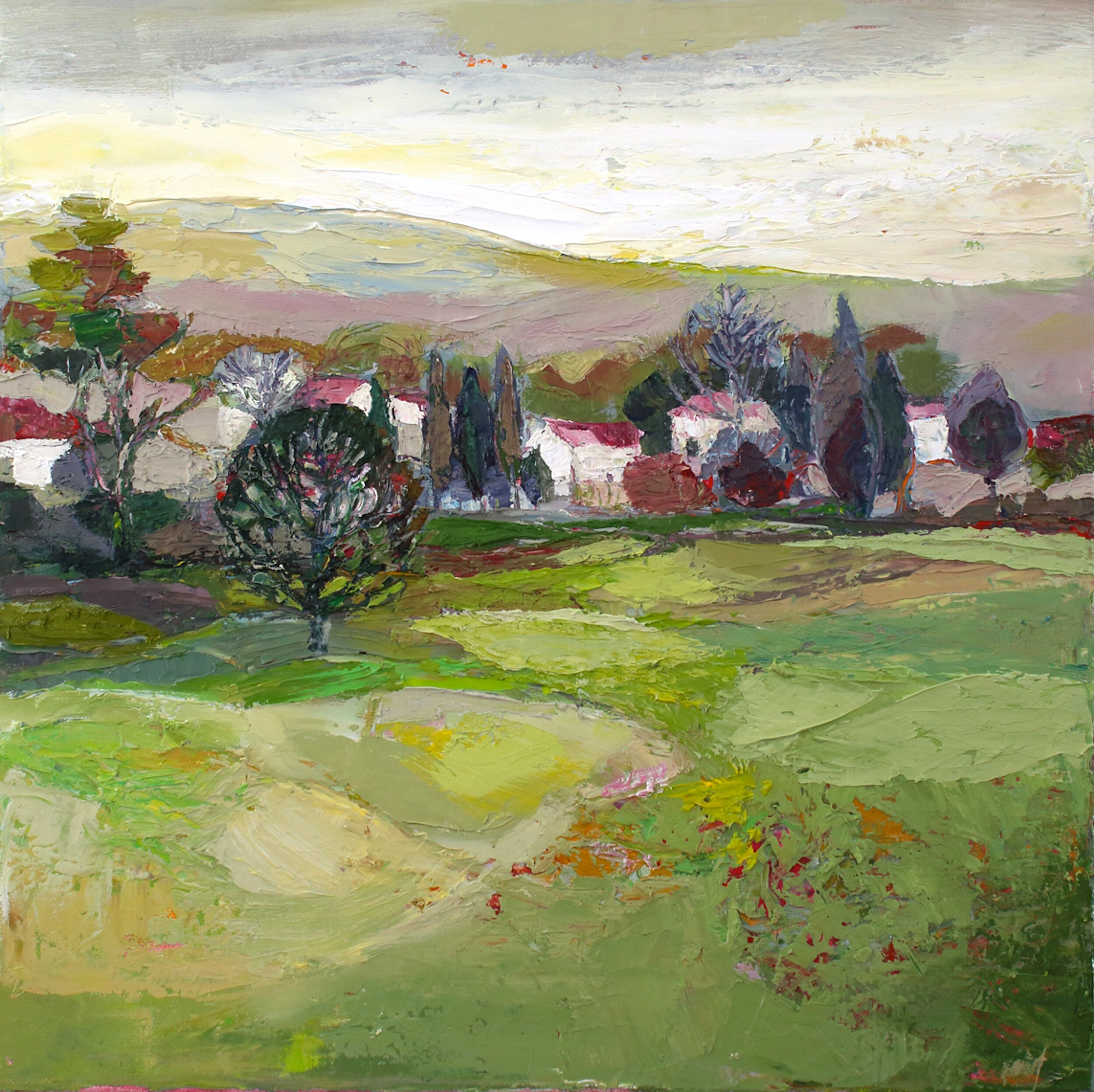 Title: Hidden Village  Size: 12x12in  Medium: Oil on Canvas  Price: £1750