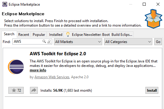 Eclipse marketplace aws toolkit.png