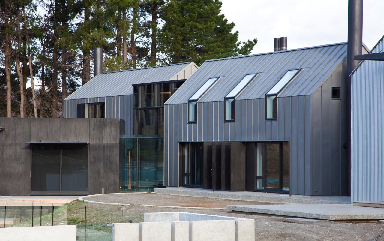 A zinc roofer has installed grey zinc on this country project in the UK