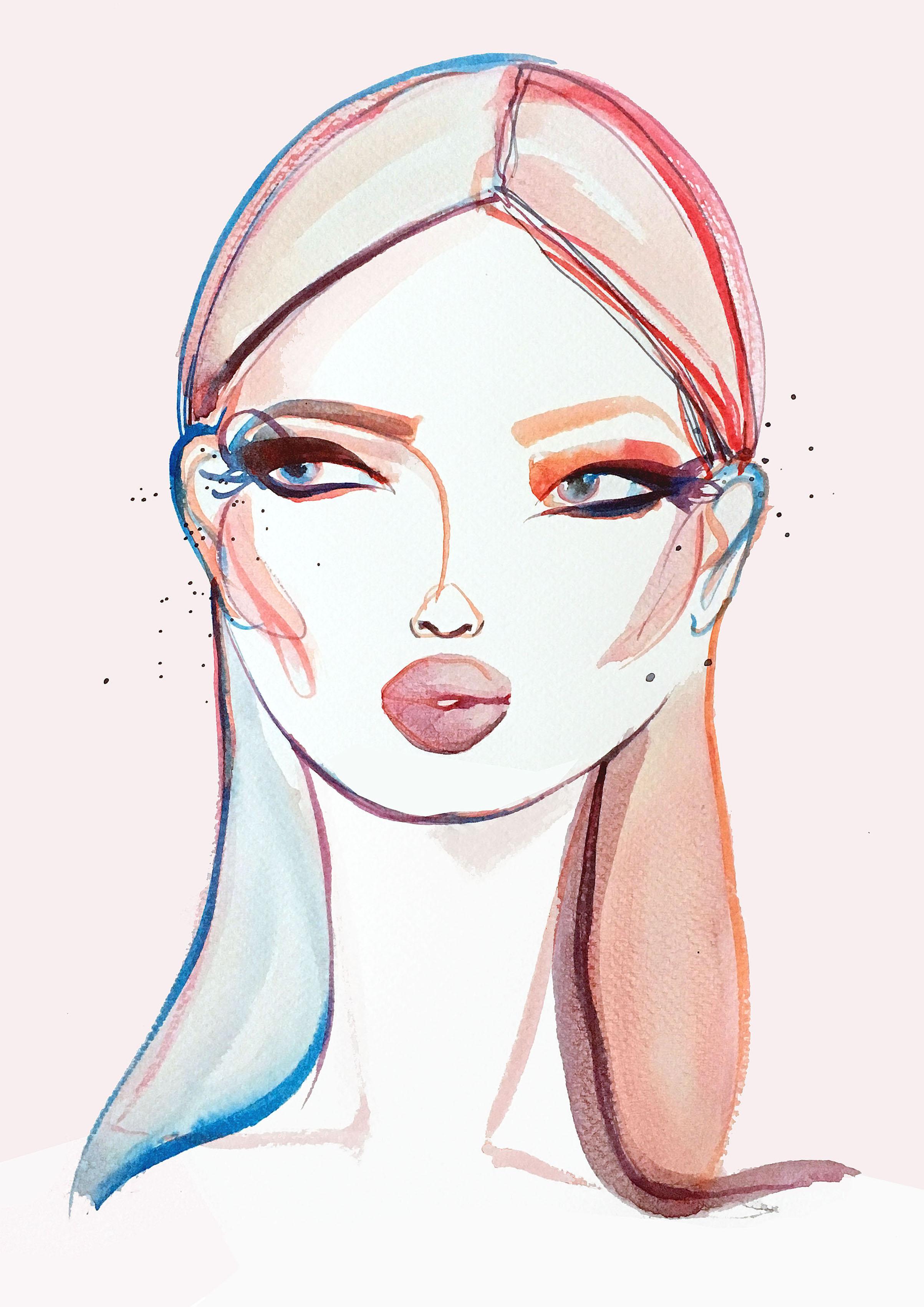 Pastel Pop - Ink illustration on paperA3 (29.7x42cm)£400