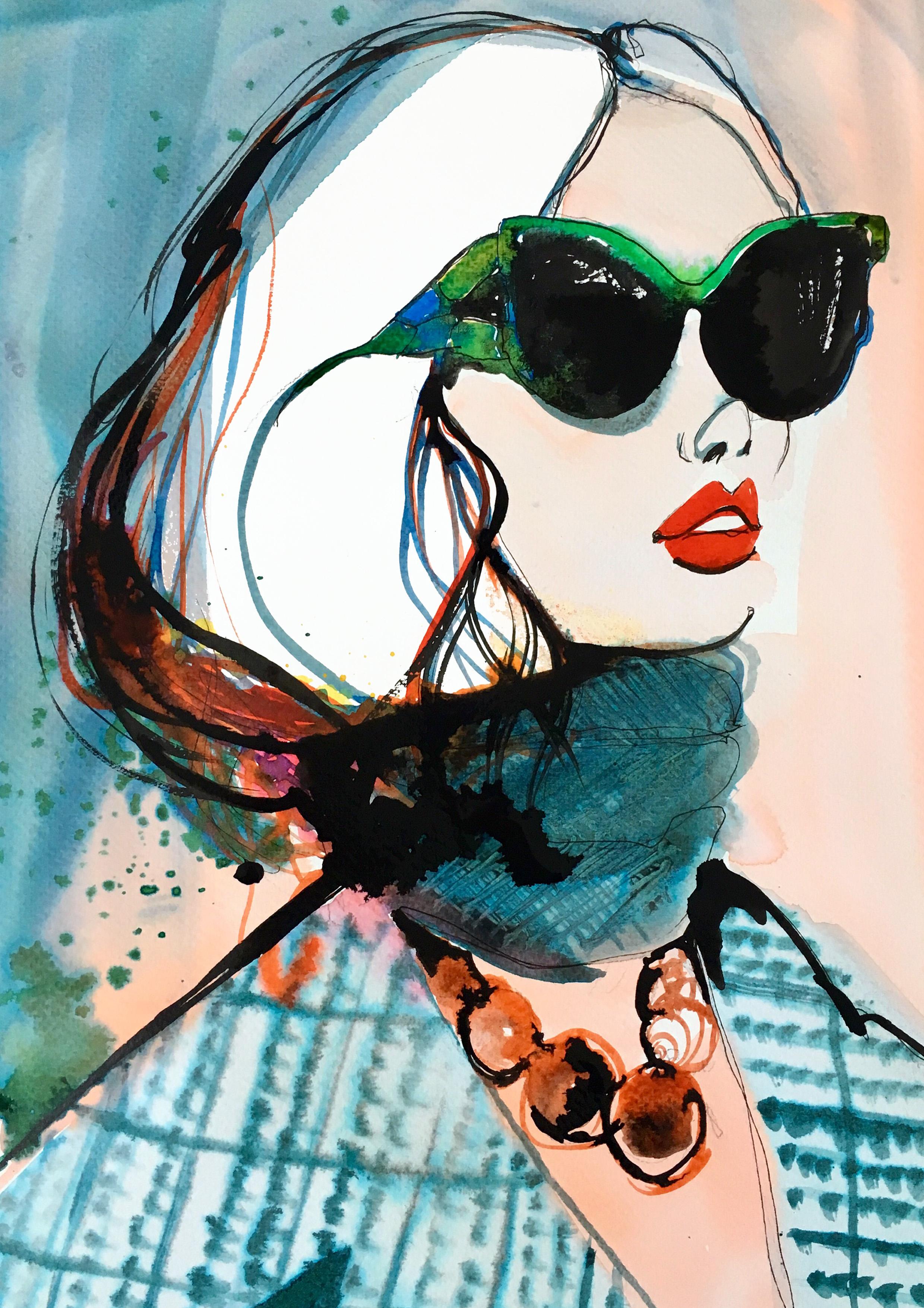 Prada - Ink illustration on paperA3 (29.7x42cm)£400