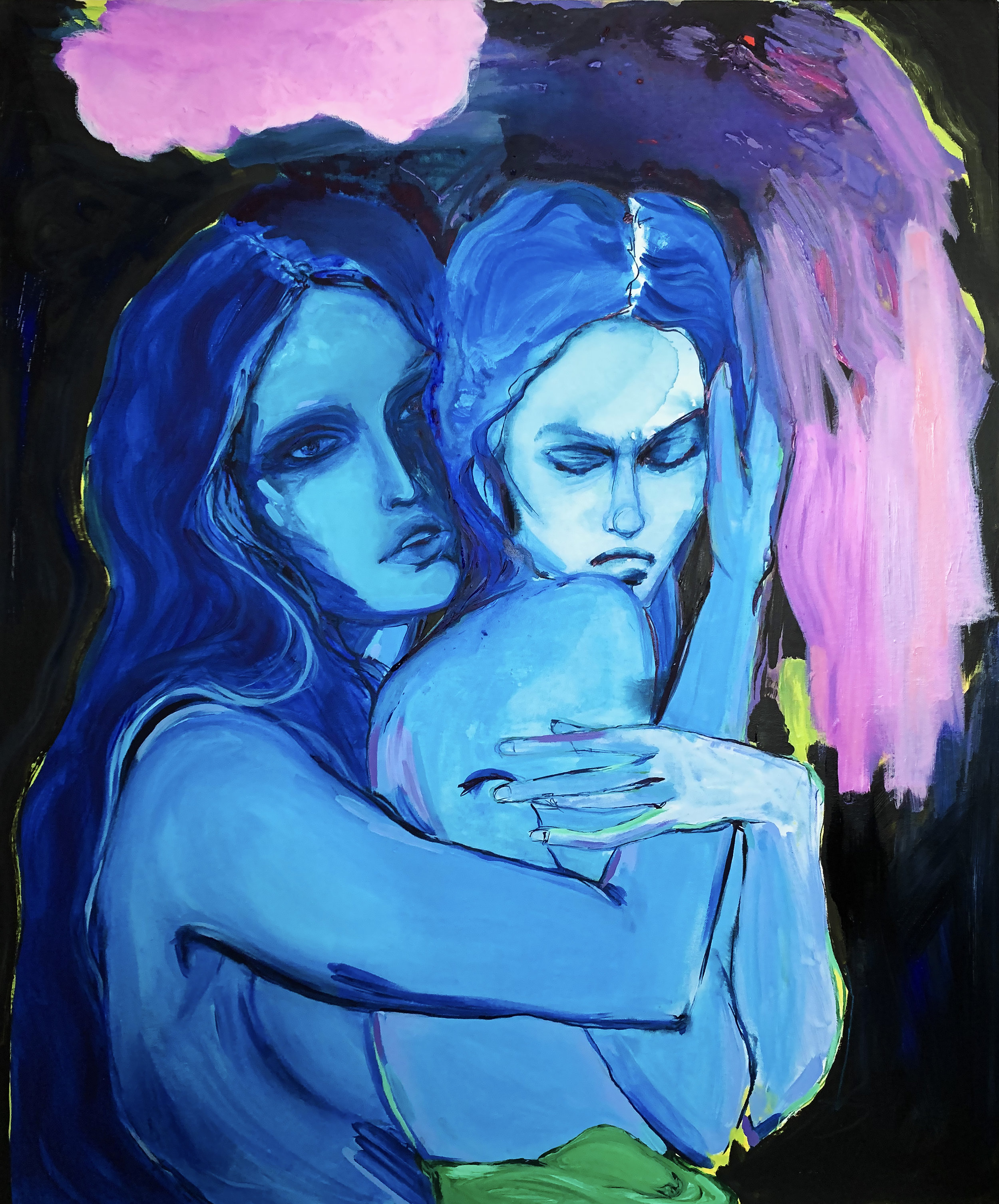 Self love and loathing - Mixed media painting on canvas120x100cm£1800 Unframed£2000 Framed