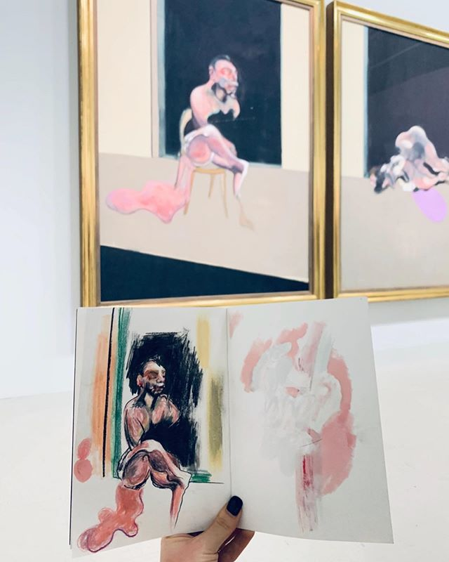 Kev....I mean FRANCIS 🥓 studies @centrepompidou #francisbacon Amazing Exhibition, best I've been to for a while 🖤🖤🖤