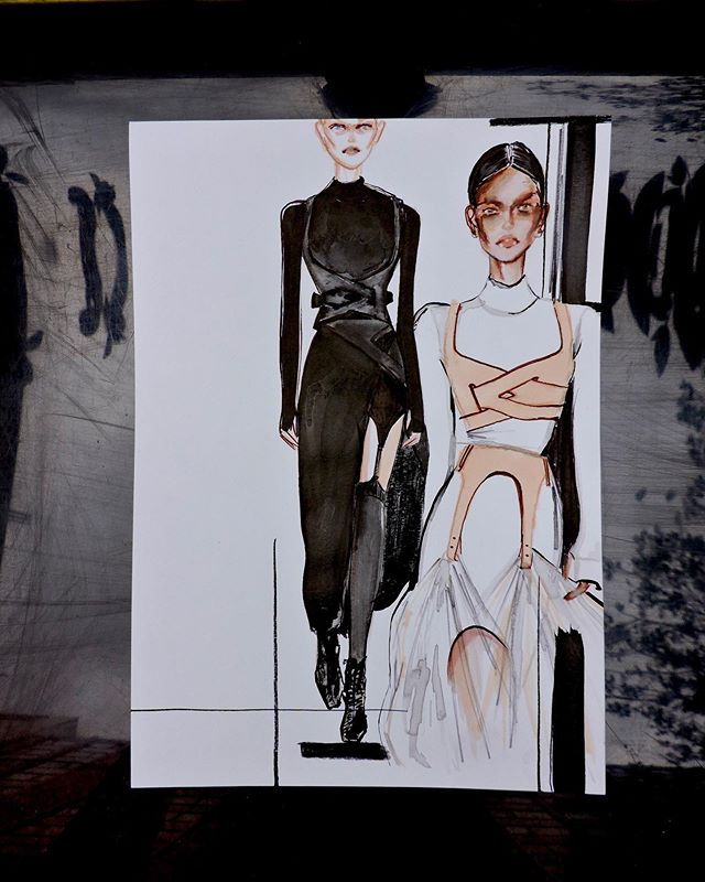 ✖️FASHION DAZE challenge✖️ AMAZING Dion Lee, I want everything ! @dionlee #NYFW First Comment/ DM gets it for £75!!! .. .. ......Every day I am illustrating a look from one of the SS20 shows and the first person to comment or DM me gets it!! .. .. After the success of my FIFTY FACES challenge I want to give you guys another chance to get an original artwork for an EVEN MORE affordable price!! I want to make sure my art is accessible to everyone and if you can't afford an original piece from my collection atm, then you can still have the chance to get your hands on an original fashion illustration !! ♥️ #fashionweek #ss20 #dionlee