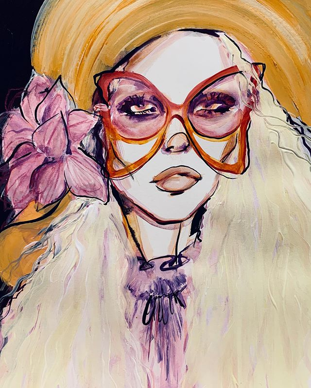 ✖️FASHION DAZE challenge✖️70s vibes @marcjacobs Last one for #NYFW First Comment/ DM gets it for £75!!! .. .. ......Every day I am illustrating a look from one of the SS20 shows and the first person to comment or DM me gets it!! .. .. After the success of my FIFTY FACES challenge I want to give you guys another chance to get an original artwork for an EVEN MORE affordable price!! I want to make sure my art is accessible to everyone and if you can't afford an original piece from my collection atm, then you can still have the chance to get your hands on an original fashion illustration !! ♥️ #fashionweek #ss20 #marcjacobs @themarcjacobs
