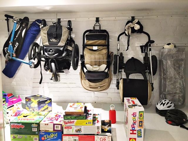 Shelfie_Kids_Organized Garage_Organized Strollers