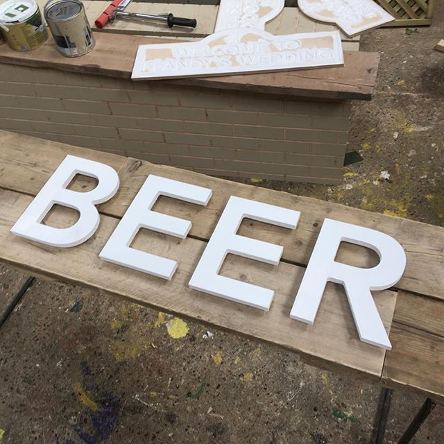 Well it's not subtle!  #beer #beersign #beeroclock #bankholiday #bankholidaybeer #scaffboard #reclaimed #tinshedcnc #tinshedscenery #cnc #cncrouter #sign #carved #carvedsign  #plywood #theatrescenery #scenic #theatreset #theatresetdesign #setdesigner