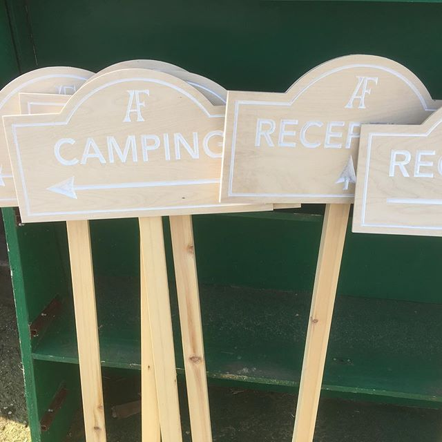 IT'S A SIGN!  #weddingsign #wedding #campingsign #receptionsign #monogram #tinshedcnc #tinshedscenery #cnc #vcarve #cncrouter #sign #carved #carvedsign  #fretwork #plywood #birchply