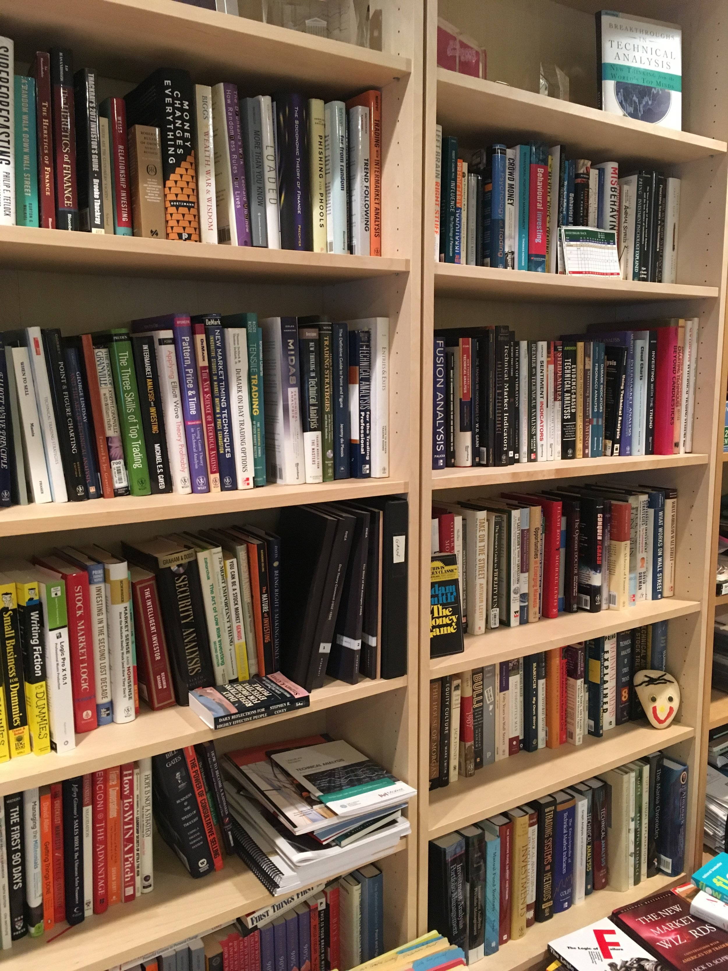 Two bookshelves full of potential opportunities for growth!