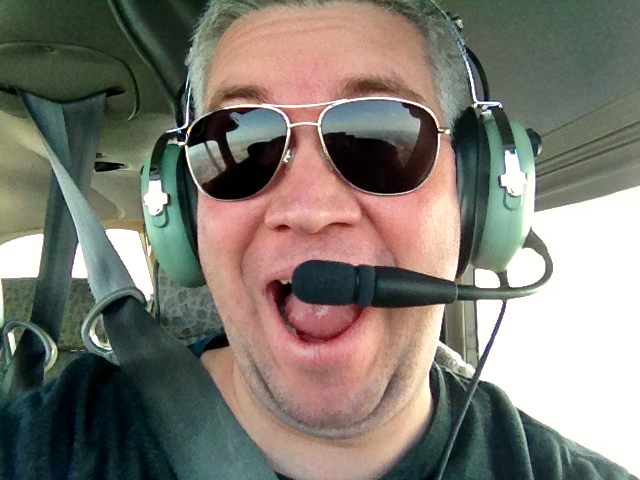 Me taking my pilot role very seriously.  Remember Rule #6!