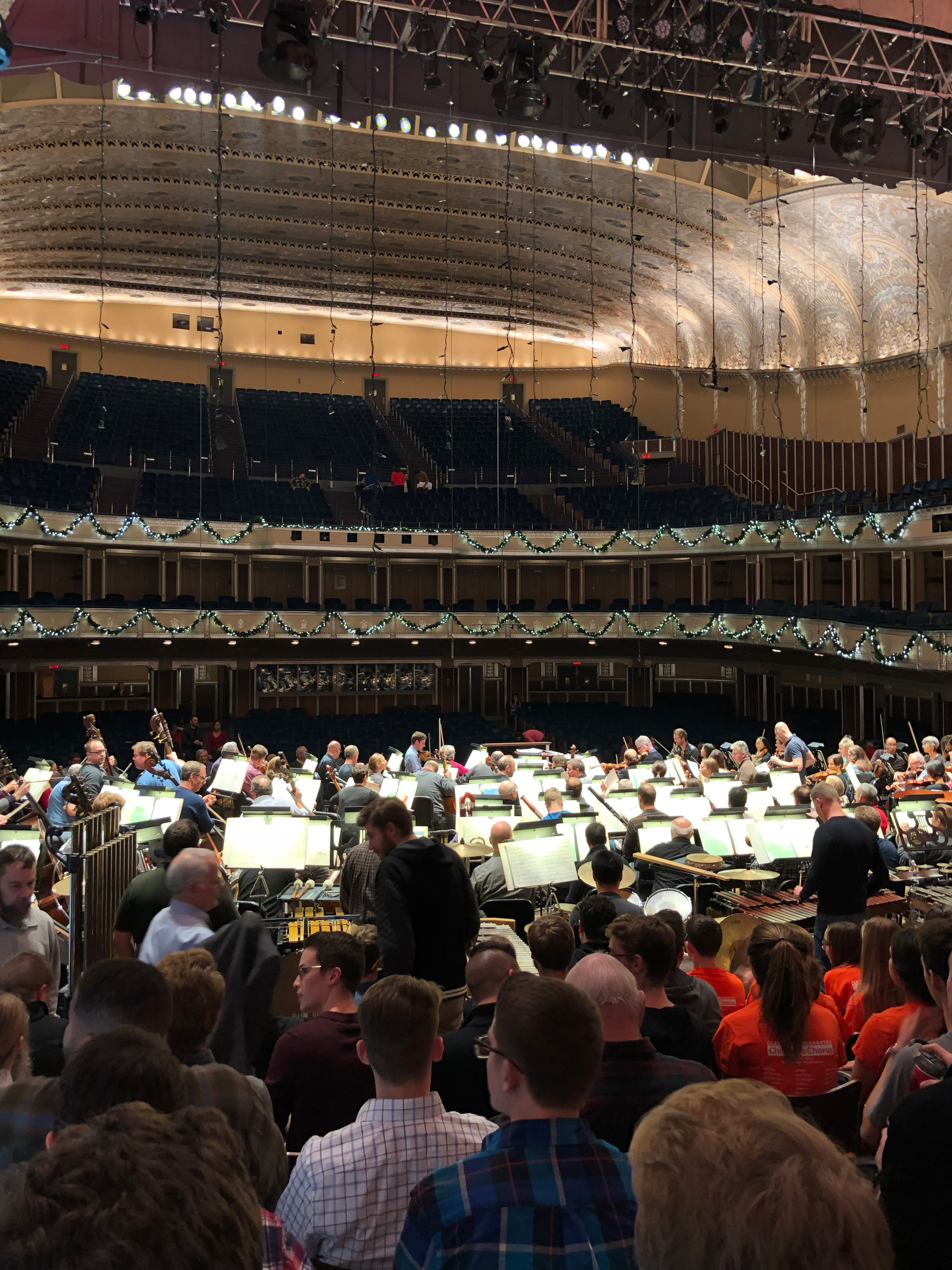 This may look a bit chaotic, but once the conductor takes the podium, it's all focused.