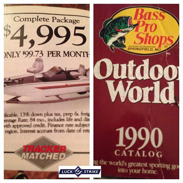 I'll take 2! I graduated from high school in 1990 and remember looking at this ad and praying some day I could afford a boat. Still can't afford it but why let that stop you.  #struggleisreal #luckestrike #builtforthefight #rc2 #livemotion #americanoriginals  #Fishing #WeFish #Lures #USA #Outdoors #Nature #Bass #BassFishing #Fish #Outside #Love  #Follow #BassMaster #LargeMouth #SmallMouthBass #InstaFish #Beautiful  #Lake #luckestrike #BigFish #Fisherman #LiveToFish #Family #Angler #Basspro
