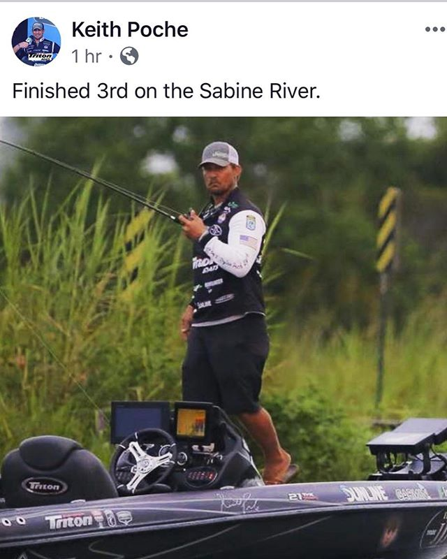 Congrats to Luck E Strike's Keith Poche on a 3rd place finish at the Bassmaster Elite on Sabine River.  #luckestrike #builtforthefight #rc2 #livemotion #americanoriginals  #Fishing #WeFish #Lures #USA #Outdoors #Nature #Bass #BassFishing #Fish #Outside #Love  #Follow #BassMaster #LargeMouth #SmallMouthBass #InstaFish #Beautiful  #Lake #luckestrike #BigFish #Fisherman #LiveToFish #Family #Angler #keithpoche