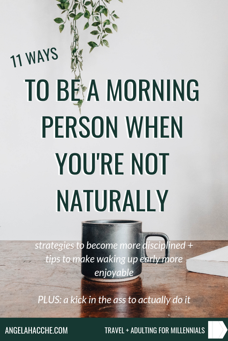 11 Ways To Be a Morning Person When You're Not Naturally. Not all of us are morning people, but the benefits of becoming one are huge. From forming great night-time routines, to strategies for getting up early; click through for tips on becoming a morning person and making it part of your routine to get up early and be productive.