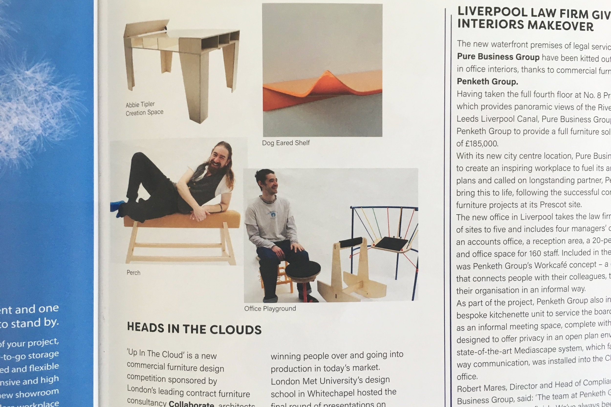 mIX INTERIORS 183 - Up in the Clouds, a furniture makers competition sponsored by Collaborate