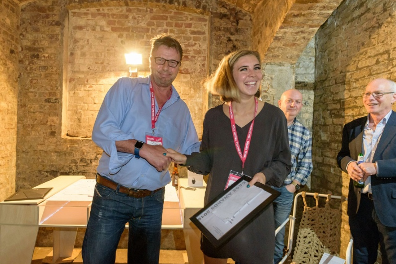 Collaborate London - Collaborate's Richard Martin announces the first 'Up In The Clouds' winner at Clerkenwell Design Week 2018