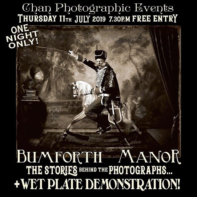 Chan Photographic Imaging are happy to announce our next coming event on Thursday 11th July 7:30pm! Come join us for a story telling with @gascoigne_simpson • THE BIZARRE AND SPLENDID PHOTOGRAPHIC WORLD OF A VICTORIAN ECCENTRIC + WET PLATE DEMO... • Nick Simpson presents the work of his great grandfather - The Photographic Pioneer and Victorian Eccentric Samuel Heracles Gascoigne-Simpson. Come and hear the stories behind the photographs & the NOTORIOUS goings on at Bumforth Manor in 19th century England. • Also including a Wetplate Collodion demonstration (Unfortunately due to our trusty British weather we've had to cancel the last Wetplate Collodion demonstration, so we are hosting it again on this night!) • DRINKS AND VOLES WILL BE SERVED! *Event may contain: NADGERING, NURDLING, NUDITY, GLUTTONY, LADIES ANKLES, CHICKEN FANCIERS and STEAM POWERED PERSONAL PROPULSION DEVICES* (Did we mention DRINKS?)* • WE HAVE LIMITED SPACE SO PLEASE RSVP to ensure yours: chandarkroom@gmail.com • #thingstodoinlondon #analoguephotographer #blackandwhitephotography #filmsnotsdead #ilfordhp5 @huge_k @chan.photographic #vintagephotography #socialhistory #shoreditch #hoxton #photographicexhibition #phototalk @bumforthmanor #nicksimpson #artphotography #photoevents #timeout #photographer #darkroom #alternativeprocess #wetplatecollodion #wetplatecollodionphotography #analogue
