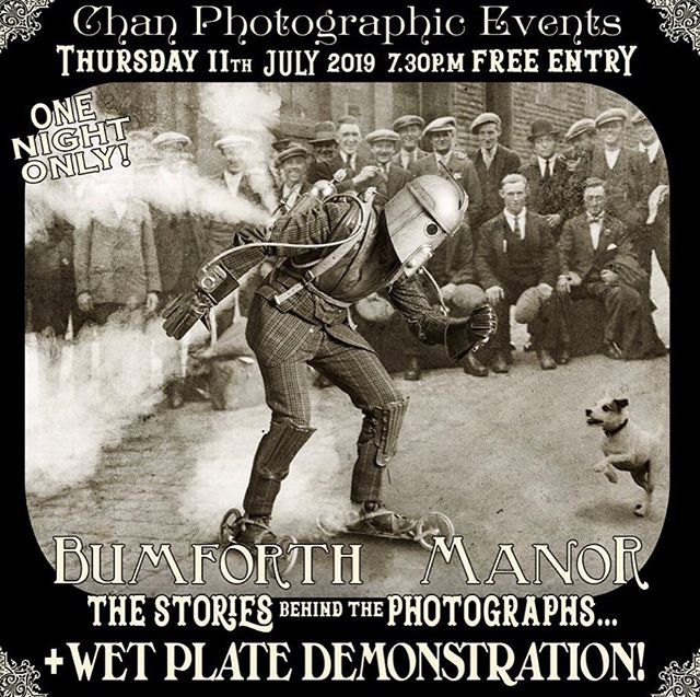 #ChanEvent TONIGHT !! Thursday 11th July 7:30pm 🎉 join us for a showing of Nick Simpson's ( @gascoigne_simpson ) great grandfather's unseen work, and hear about the stories behind them. Also a chance to experience what it's like to have your photograph taken in the 19th century with the Wetplate Collodion demonstration 📸 • RSVP to chandarkroom@gmail.com or visit www.chanphotographic.com/Chan-event • DRINKS AND VOLES WILL BE SERVED! *Event may contain: NADGERING, NURDLING, NUDITY, GLUTTONY, LADIES ANKLES, CHICKEN FANCIERS and STEAM POWERED PERSONAL PROPULSION DEVICES* (Did we mention DRINKS?) •  #filmsnotdead #analogue #darkroom #darkroomprint #film #filmphotography #chanphotographic #wetplate #collodion #ambrotype #largeformat #wetplatecollodion