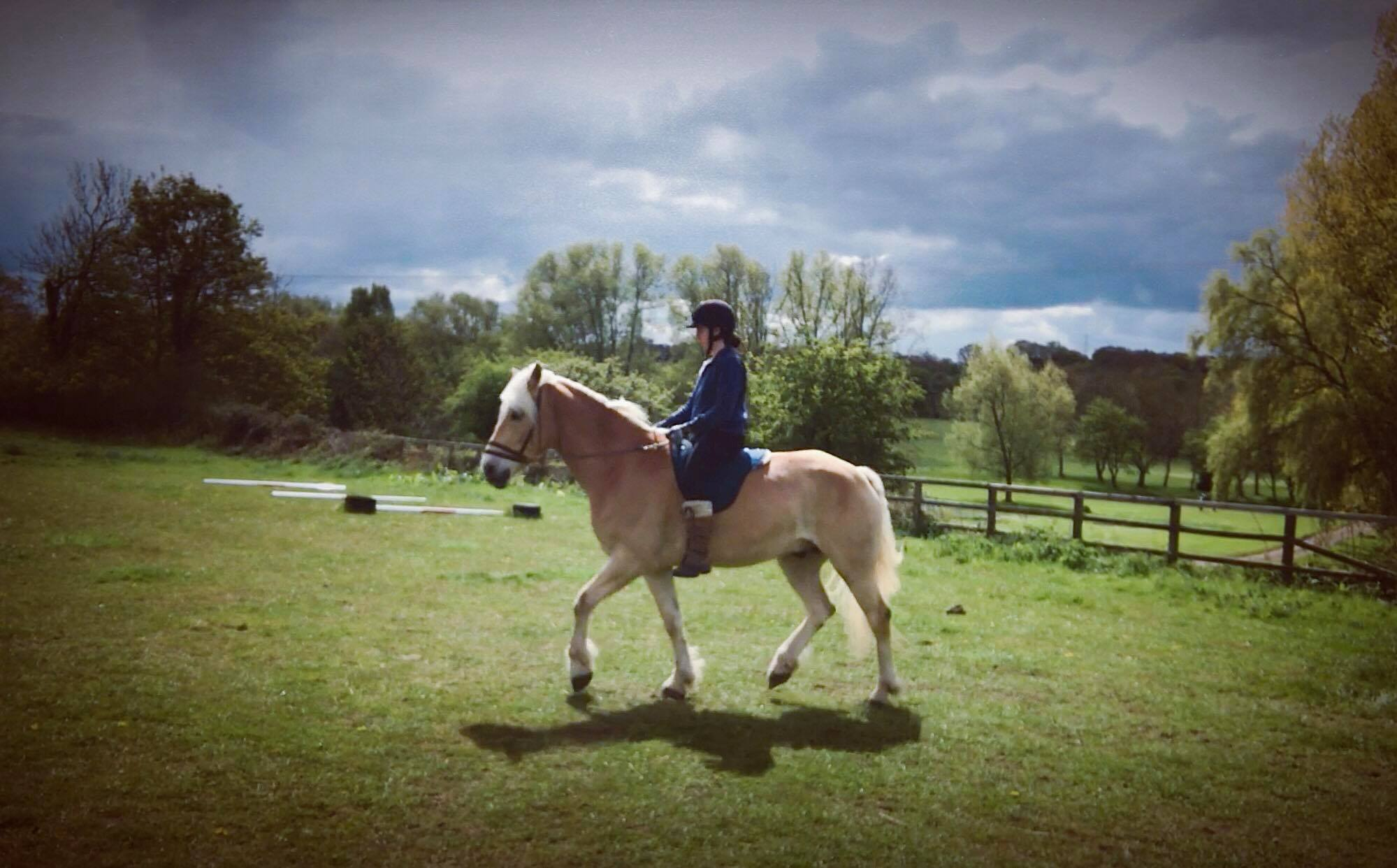 Alex and Thor - raised, open and relaxed (riding with balance)