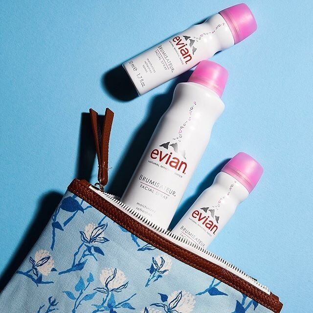 Spilling our beauty secrets... ? ? Evian Facial Spray is perfect for finishing and blending your makeup! As the day goes on, generously mist your skin to refresh and revive.