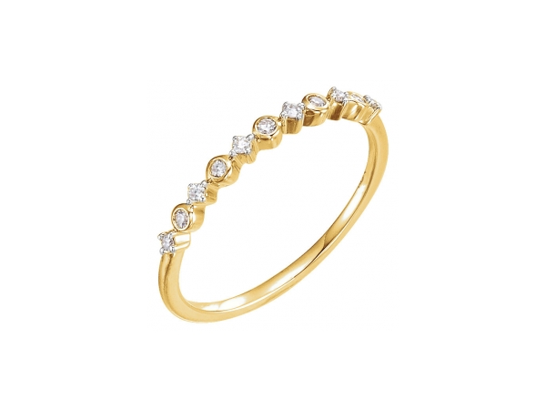 Unique Diamond Stackable, $397. Image via Grogan Jewelry