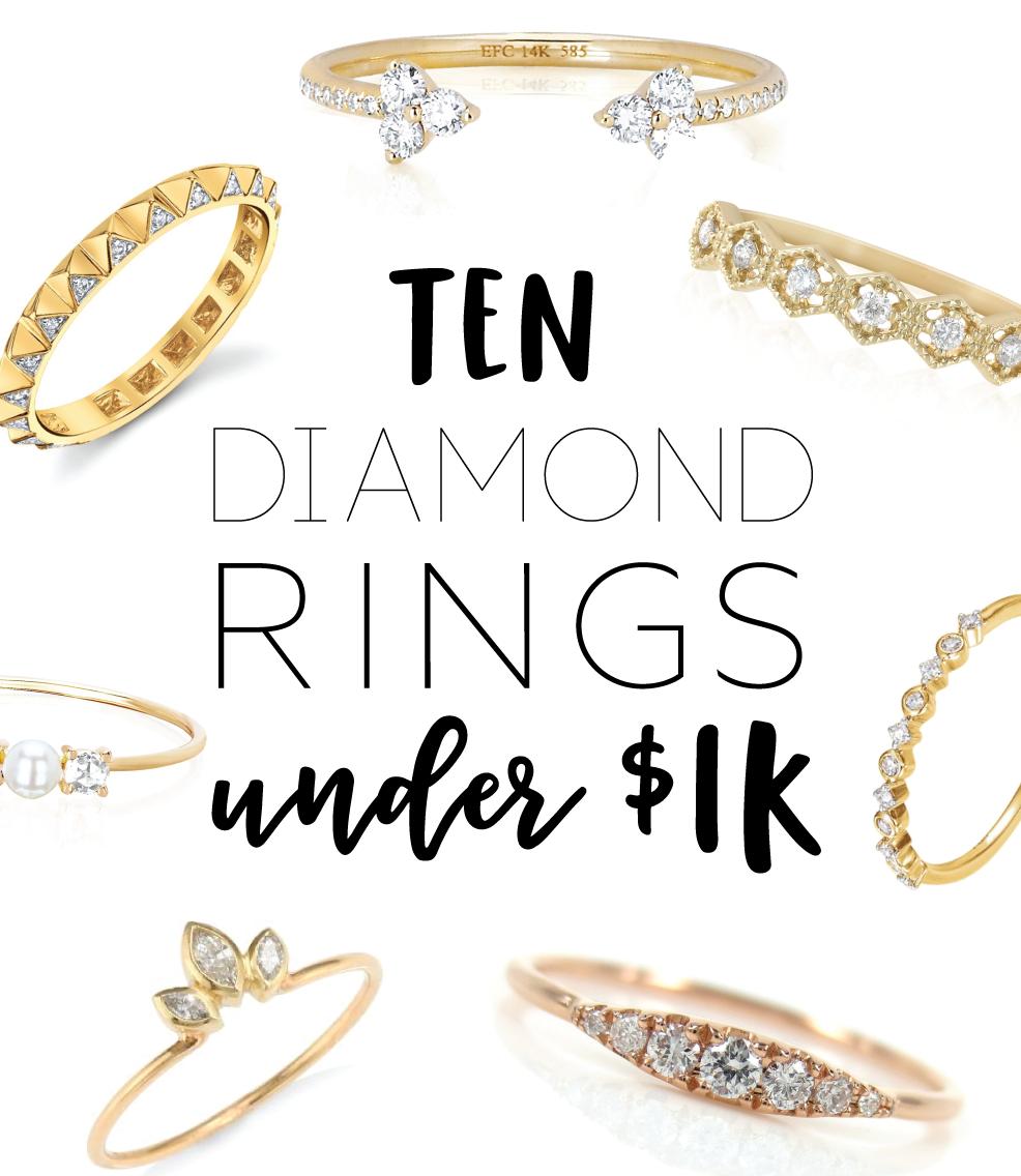 10 Diamond Rings Under $1000