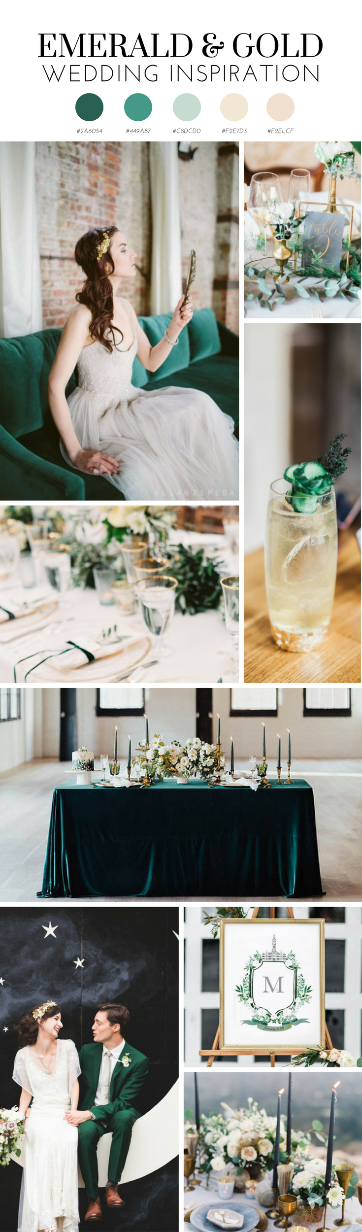 Emerald and Gold Wedding Inspiration.png