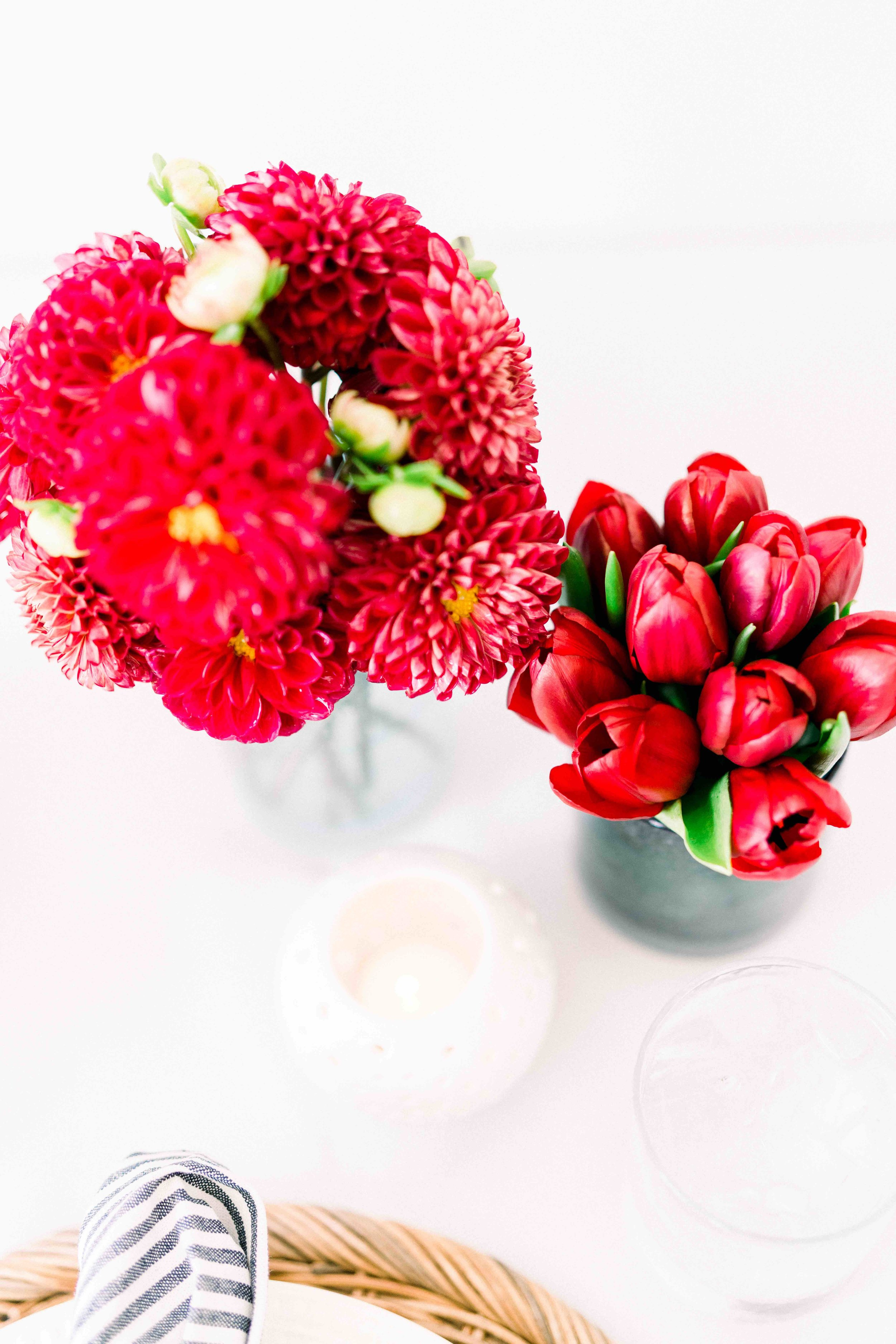 Bold Red Florals by Eco Chic Blossoms