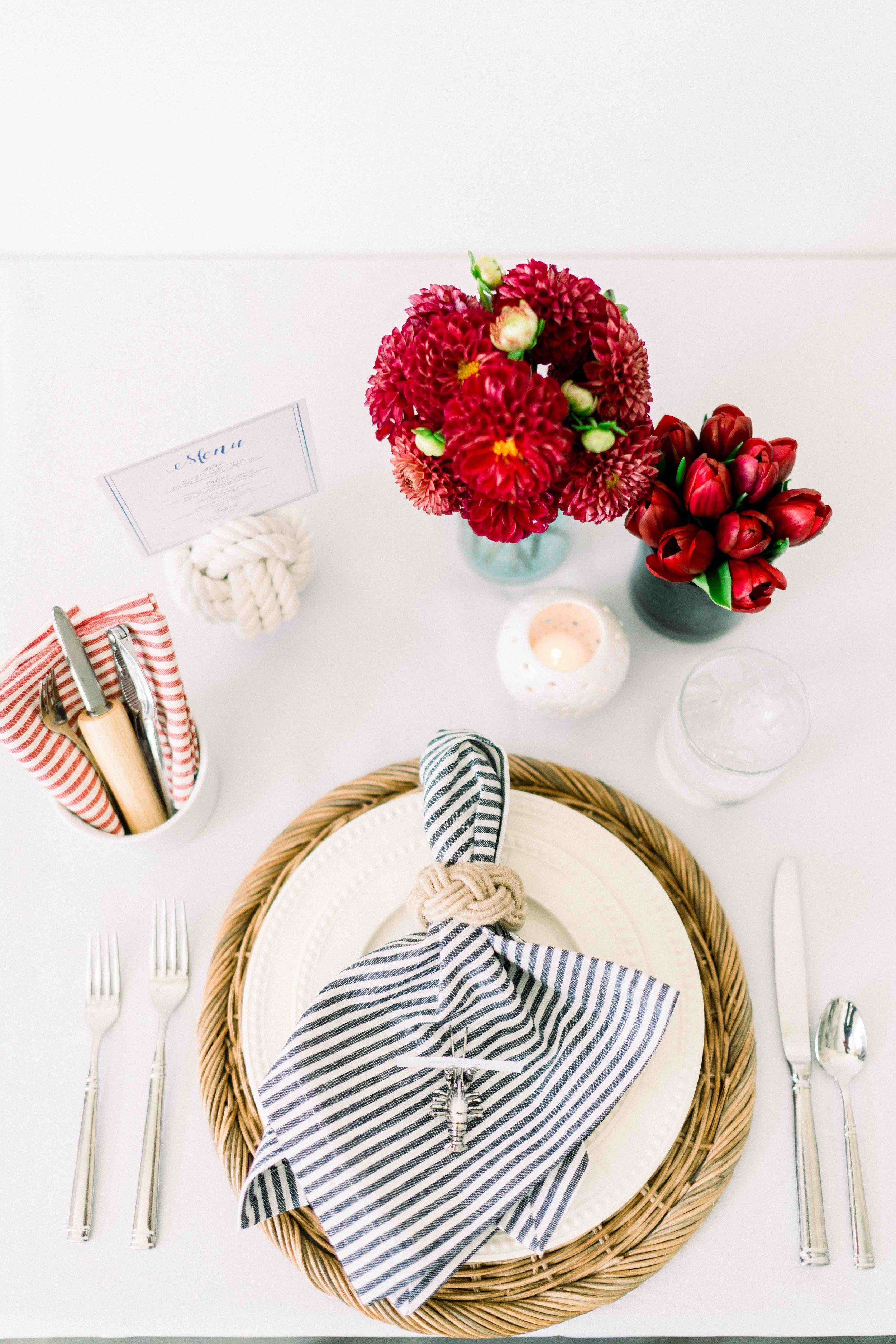 Nautical Tablescape with Beach Inspired Details