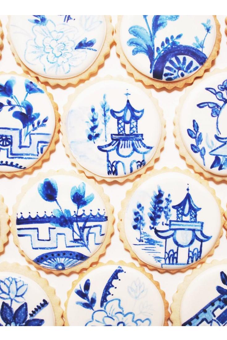 Indigo Chinoiserie Cookies by Sogi's Honey Bakeshop
