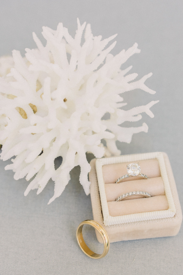 Gorgeous wedding rings and coral at Naples Botanical Garden Wedding.png