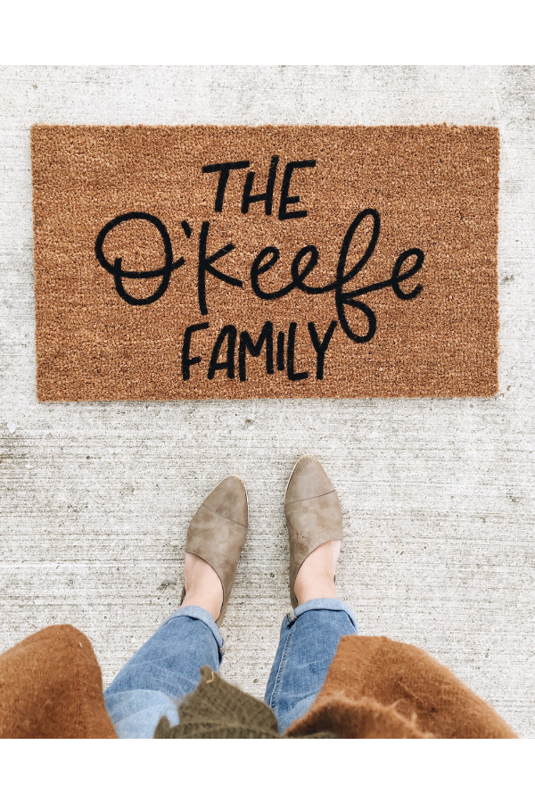Personalized Door Mat by Olive Creative Co, $45.
