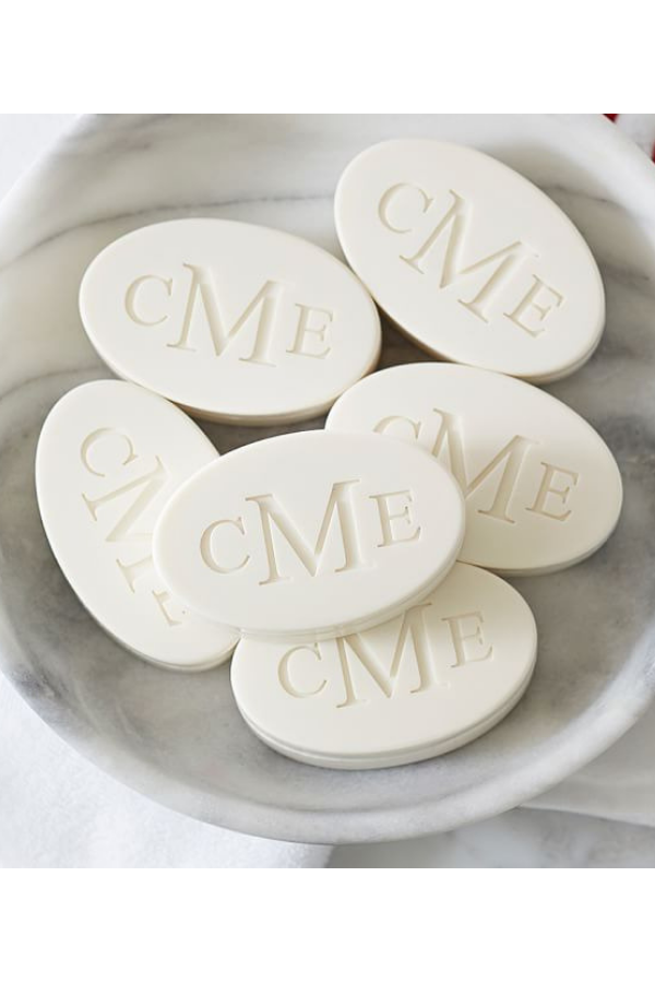 Monogrammed Guest Soap, $49 set of 6