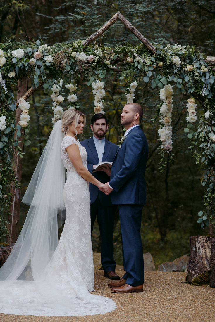 Real Wedding Airey and Jack at Drakewood Farm in Nashville Tennessee - ceremony floral arch at Drakewood Farms Prim + Pretty Prints 3.png