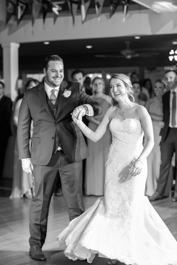 Real Wedding on Long Beach Island at Brant Beach Yacht Club -Bride and groom first dance introduction.png