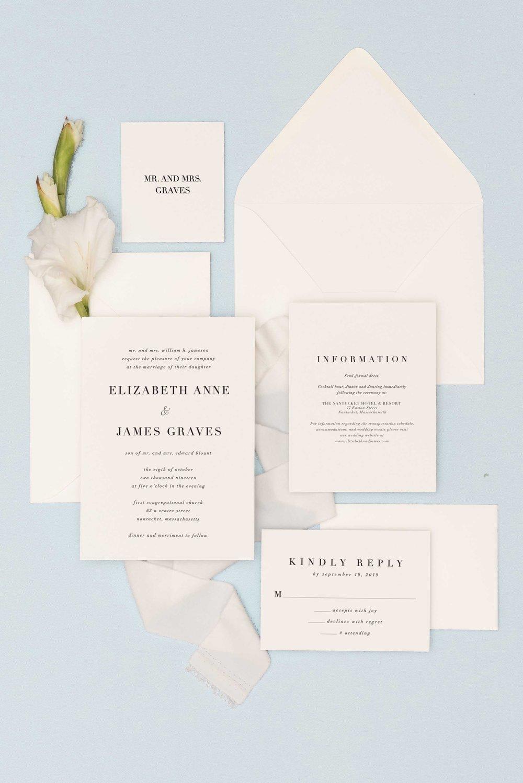 Classic White Invitation Suite