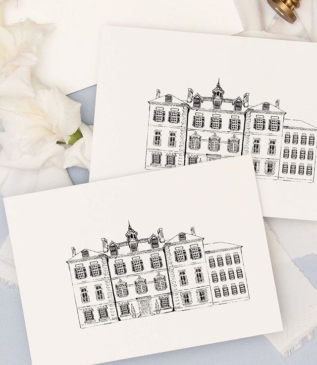 A little venue illustration for a dream wedding at this country estate in the Berkshires 🤩