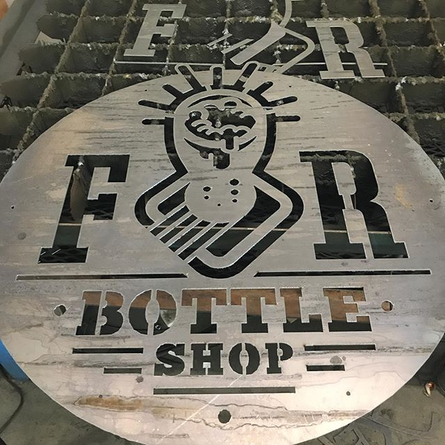 One layer of a multi layered, multi backlit sign I am building for our friends over at @frbiergarten. This thing is going to be sick!!